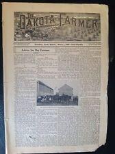 Vintage 1909 Dakota Farmer Newspaper