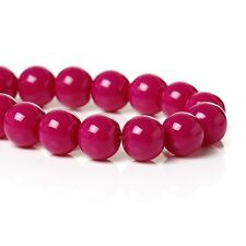 1 Strand 8mm ca. 108 Piece fuchsia Glass beads round DIY tinker Jewellery