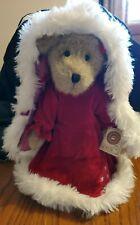 """Boyds Mrs. Kringlebeary 14"""" Bear Plush Red Velvet"""