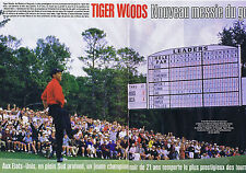 COUPURE DE PRESSE, CLIPPING 1997 TIGER WOODS  le Nouveau Messie du Golf 6 pages