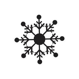 Snowflake 4, winter, snow, vinyl decal, craft, sticker, holiday, snowman, cold