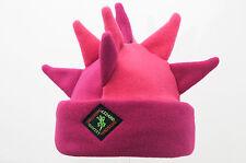 Pink Spike Fleece Ski & Outdoor Hat Unisex by Original Lizard