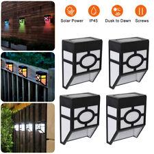 1/4 Pcs Solar Powered LED Wall Mount Lights Outdoor Garden Door Step Fence Lamp