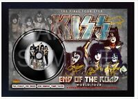 NEW! Kiss End of The Road MUSIC  SIGNED FRAMED PHOTO LP Vinyl  #2