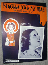 1938 I'M GONNA LOCK MY HEART Vintage Sheet Music ROSE MARIE by Eaton, Shand