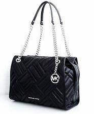 Original Michael Kors Bag Handbag Kathy LG Satschel Leather Black New