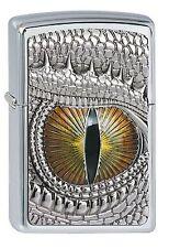 Zippo gasolina encendedor dragon eye emblema dragón ojo 2002539 nuevo embalaje original