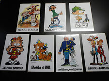 Lot de 7 autocollants Dupuis Spirou Gaston Lagaffe Agent 212 Boule et Bill