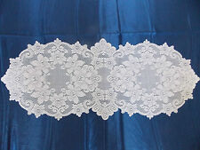 HERITAGE LACE WHITE CLAREMONT TABLE RUNNER 14.5 BY 36 ITEM 6023