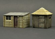 DIO72  no. 72016 - 2 Small Sheds #1 - 1:72 scale resin diorama model