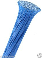"1 meter - Techflex PTN0.13NB 1/8"" Flexo PET sleeving Neon Blue"