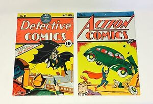 Superman And Batman Classic Comics Metal Signs Loot Crate DX Exclusive Jan 2017