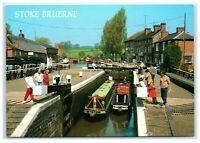 Picture Postcard Top Lock Stoke Bruerne Grand Union Canal Northamptonshire