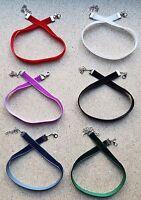 6 Handmade Classic Velvet Choker Necklaces - Bulk Group of 6 - Choice of Colours