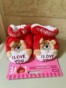Baby Booties Valentine Infants I LOVE YOU NEW
