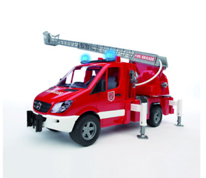 Fire Truck MB Sprinter with stairs and water pump Bruder Toy Car Model 1/16 1:16