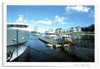 Postcard The Town Pier at Bar Harbor, Maine ME ships yacht coast guard boat K5