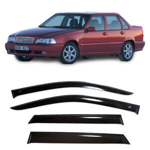 For Volvo S70 Sd 1997-2000 Side Window Visors Sun Rain Guard Vent Deflectors