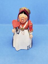 Queen Of Hearts Alice in Wonderland Figurine Metal Pewter Hamilton Collection