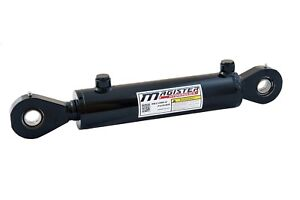 """Hydraulic Cylinder Welded Double Acting 2"""" Bore 8"""" Stroke Swivel Eye End 2x8 NEW"""