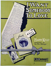 """SHEET MUSIC STORE POSTER """"I WANT SOMEBODY TO LOVE"""" ADVERTISING LARGE FORMAT"""