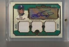 2013 Topps Museum Ken Griffey Jr. Gold Triple Jersey Swatches Auto #/25