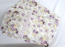 RARE RACHEL ASHWELL TREASURES Regent Park Purple Roses Ruffled Shower Curtain
