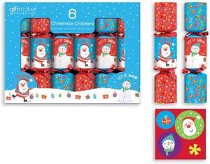 Pack Of 6 Mini Children's Novelty Christmas Crackers