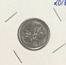 2016 5 cent  unc coin features pre decimal coin