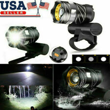 XM-L T6 LED MTB Bicycle Light Bike Front Headlight with USB Rechargeable Cycling