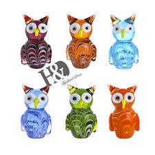 Handmade Miniature Qwl Art Glass Blown Animal Figurine Collection Gifts Set 6pcs
