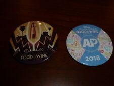 Food & Wine Festival Button Pins 2016 & 2018 Ap Disney California Adventure Dca