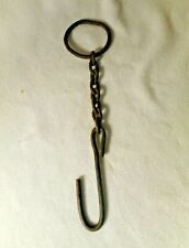 Vintage Style Iron Plant Hanger Old Chain and Hook Plant Hanger Rustic Primitive