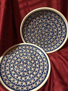 Boleslawiec Handmade Poland Pottery Plate NOS (2)