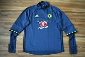 SIZE L CHELSEA FOOTBALL SOCCER 2016/2017 TRACK TOP ADIDAS LARGE CARABAO TRAINING