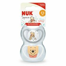 NUK Newborn Baby Winnie Space Soother Dummy 2 Pack Silicone Teat 0-6 Months