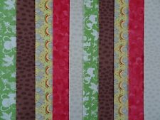 20 JELLY ROLL STRIPS Cotone Patchwork Tessuto Safari 22 inch LONG