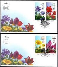 ISRAEL 2018 - SPRING FLOWERS IN ISRAEL - 4 STAMPS WITH TABS ON 2 FDC's