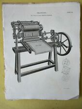 Vintage Engraving,PRINTING,Bacon+Donkins Machine,1810