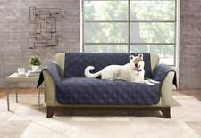 Sure Fit  SOFA Waterproof Pet Cover Storm Blue Double Diamond Non slip Paws