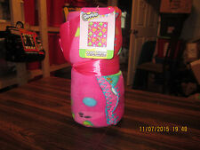 Shopkins Fleece Blanket, 40 by 50-Inch New 2015 With Tags Bedding