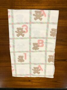 Vintage 1980's Dundee ABC 123  Bears Crib Flannel Fitted Sheets