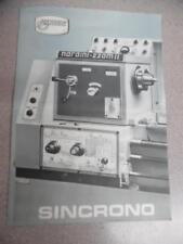 TORNO MECANICO NARDINI 220 MII SINCRONO Vintage Lathe Tool Catalog Brochure ORIG