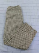 Coldwater Creek Capri Pants Size 10 Womens Gingham Brown White Check Stretch