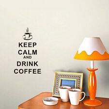 Wall Decals Keep Calm And Drink Coffee Quote Decal Vinyl Sticker Art Decor