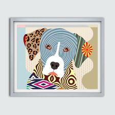 Catahoula Dog Louisiana Leopard Portrait Animal Art Poster Puppy Pet Home Decor