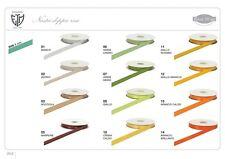 Nastro doppio raso 6 mm rotolo bobina da 50 mt vari colori fai da te