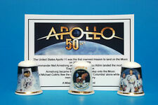 Apollo 11 50th Anniversary of the Moon Landing Box Set of 3 Thimbles + Card B/32