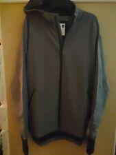 New listing Under Armour Heat Gear STORM  Full Zip Jacket Men LARGE NWT Loose Grey Hoodie