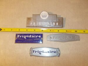 Lot of 4 Frigidaire  Logo Emblem Badge Name Plate